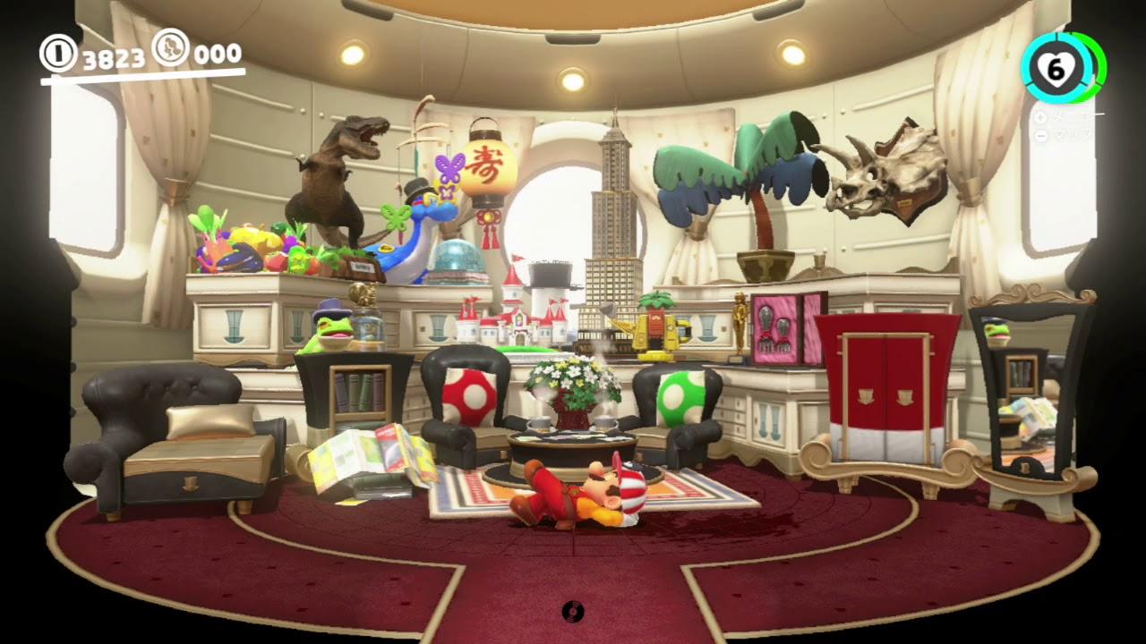 【スーパーマリオオデッセイ】ニュードンクシティ フェスティバル日本語が存在した!(ついでにマリオの寝言を発見(透明マリオ))